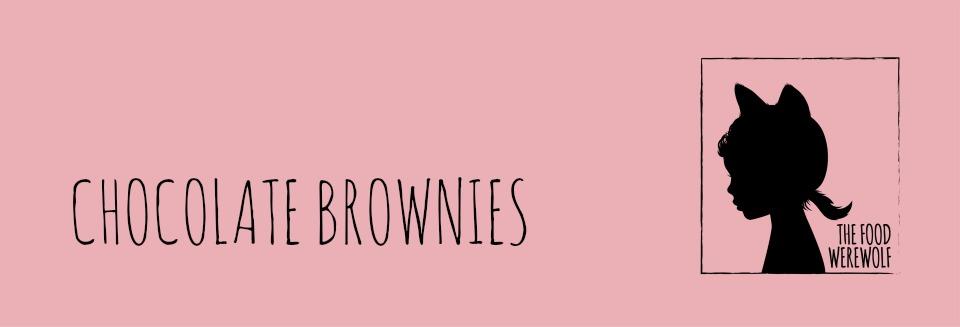 Chocolate brownies header