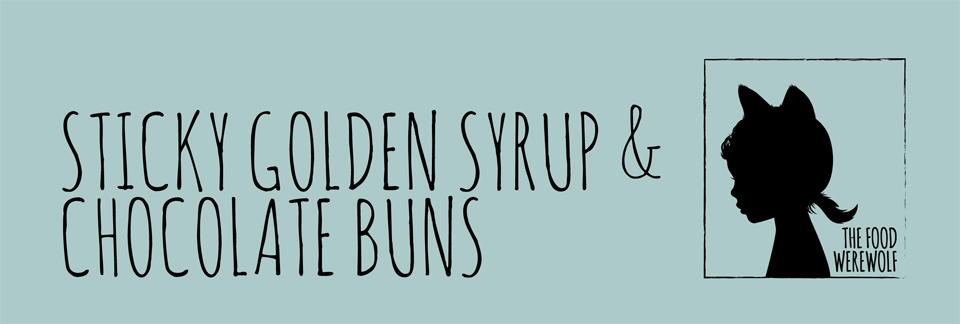 sticky golden syrup & chocolate buns