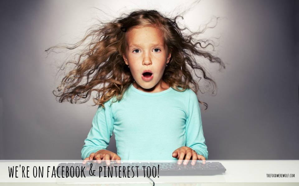 we r on Facebook pinterest