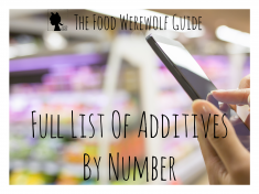 Additives Full List By Number Cover Pg