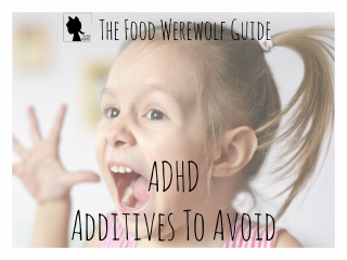 Additives To Avoid ADHD Cover Pg