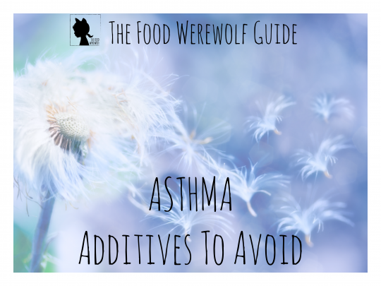 Additives To Avoid Asthma Cover Pg