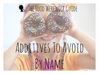 Additives To Avoid By Name Cover Pg